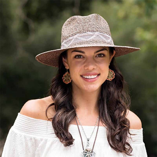 Large Brim Panama Hat with Knit Band - Kallina