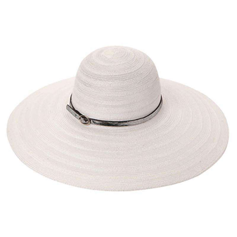 Large Brim Knit Capeline Style Summer Hat - SetarTrading Hats