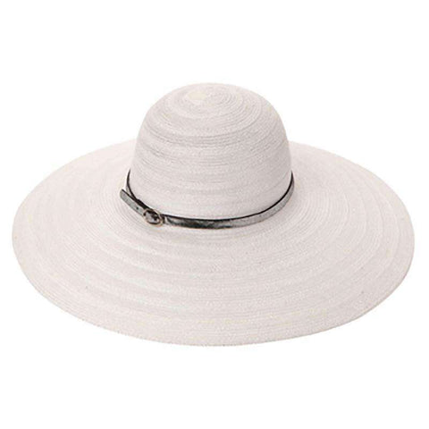 Large Brim Knit Capeline Style Summer Hat