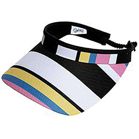 Cabana Stripe Golf Sun Visor with Coil Lace by GloveIt