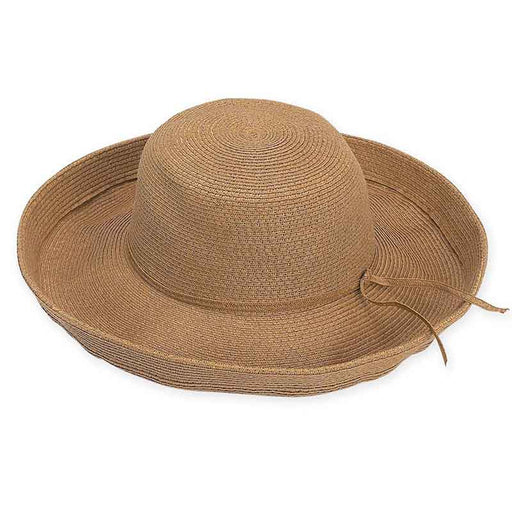 XL Size Women's Hats: Up Turned Brim Straw Hat - Sun'N'Sand®