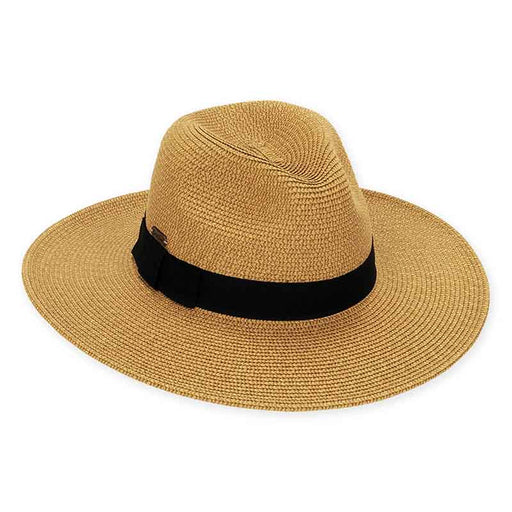 XL Size Women's Hats: Tweed Straw Safari Hat - Sun'N'Sand®