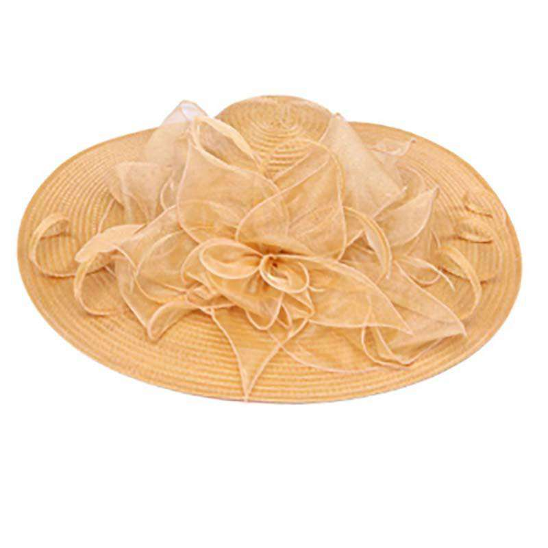 Crain and Ruffle Organza Hat - SetarTrading Hats