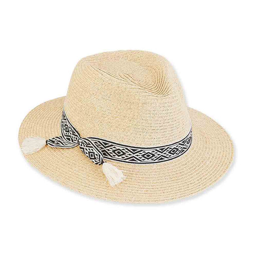 Petite Straw Safari Hat with Tribal Band - Sunny Dayz™