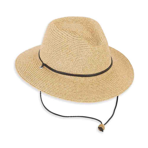 Petite Straw Safari Hat with Chin Cord - Sunny Dayz™