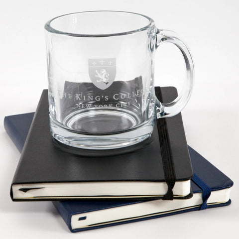 Etched Glass Mug