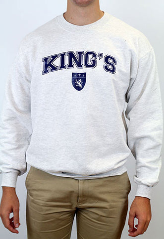 Sweatshirt, Crewneck - King's with Shield