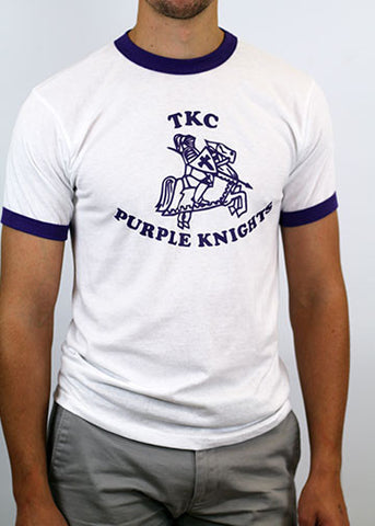 Vintage T-Shirt, Purple Knights - White