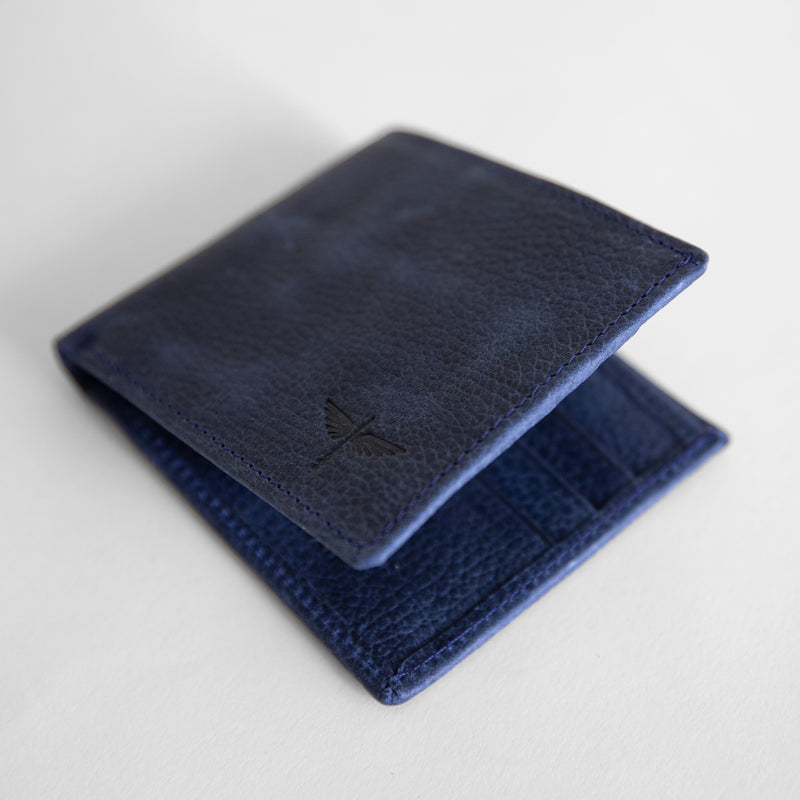 Classic wallet in indigo from top