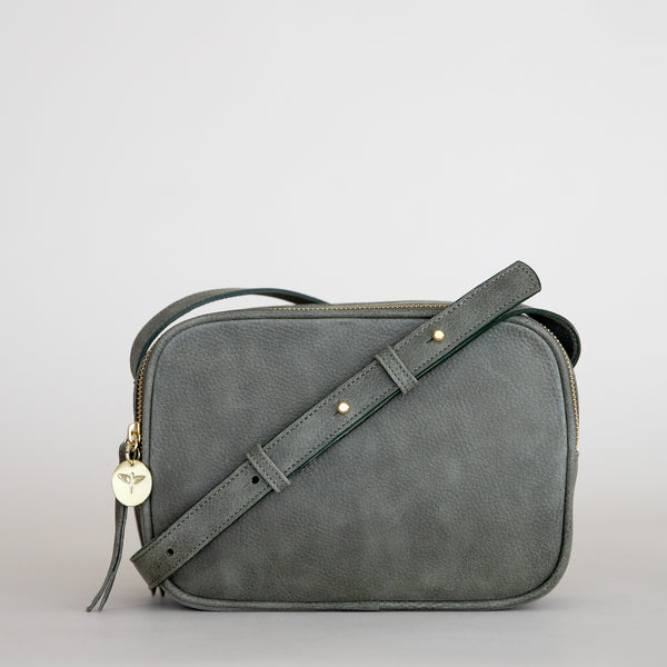 Cruz crossbody in military from front