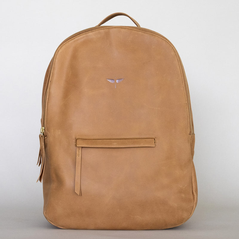 Gaucho backpack in Aged Tan from front