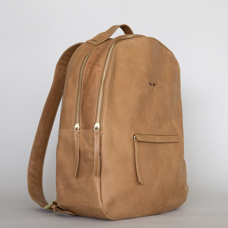 Gaucho backpack in Aged Tan from side