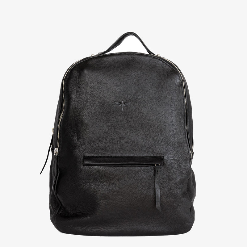 Gaucho backpack in black from front