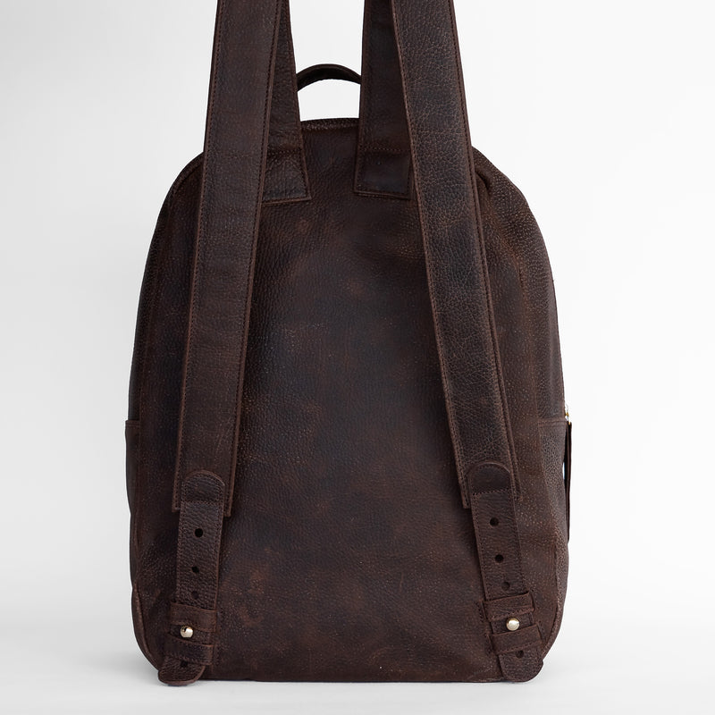 Gaucho backpack in Chocolate from back