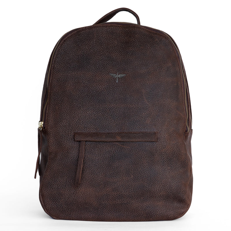 Gaucho backpack in Chocolate from front