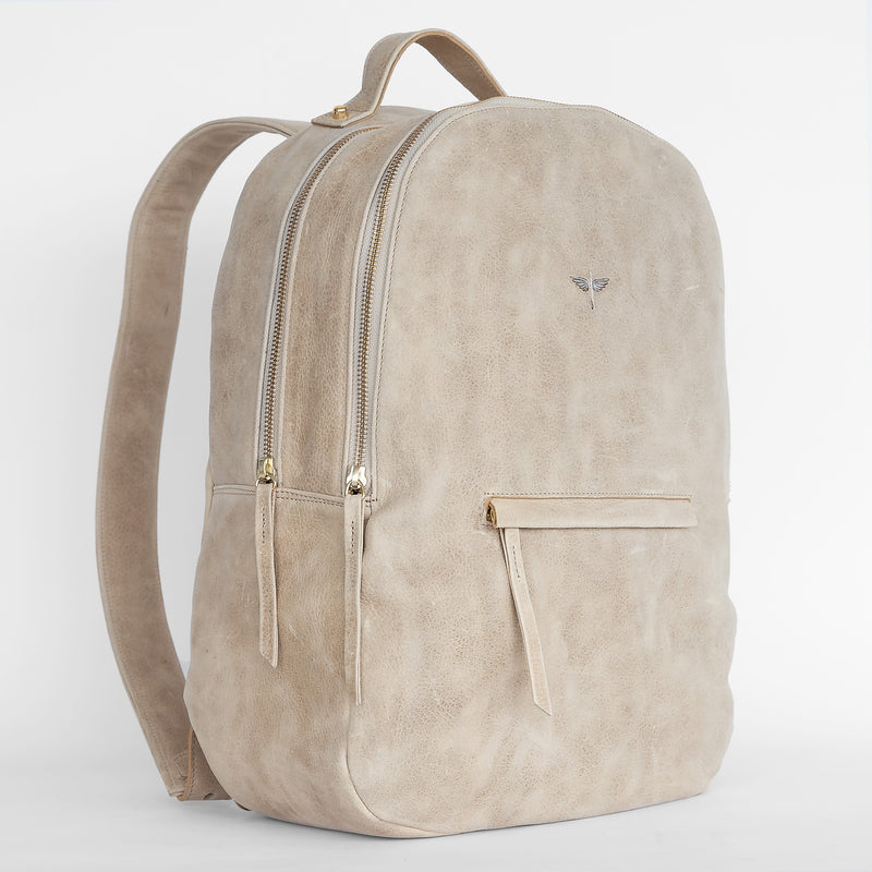 Gaucho backpack in Latte from side
