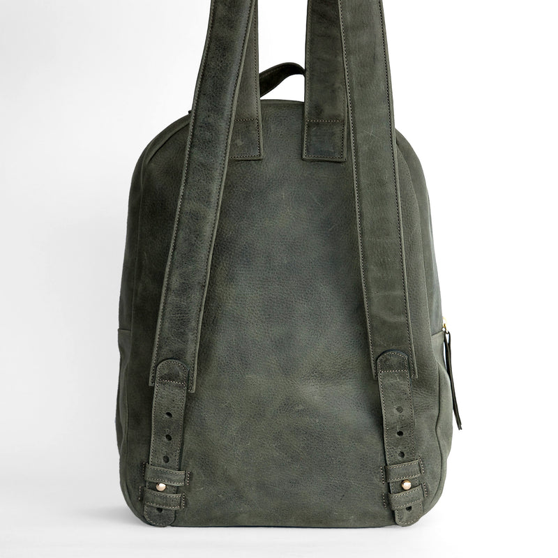 Gaucho backpack in Military from back