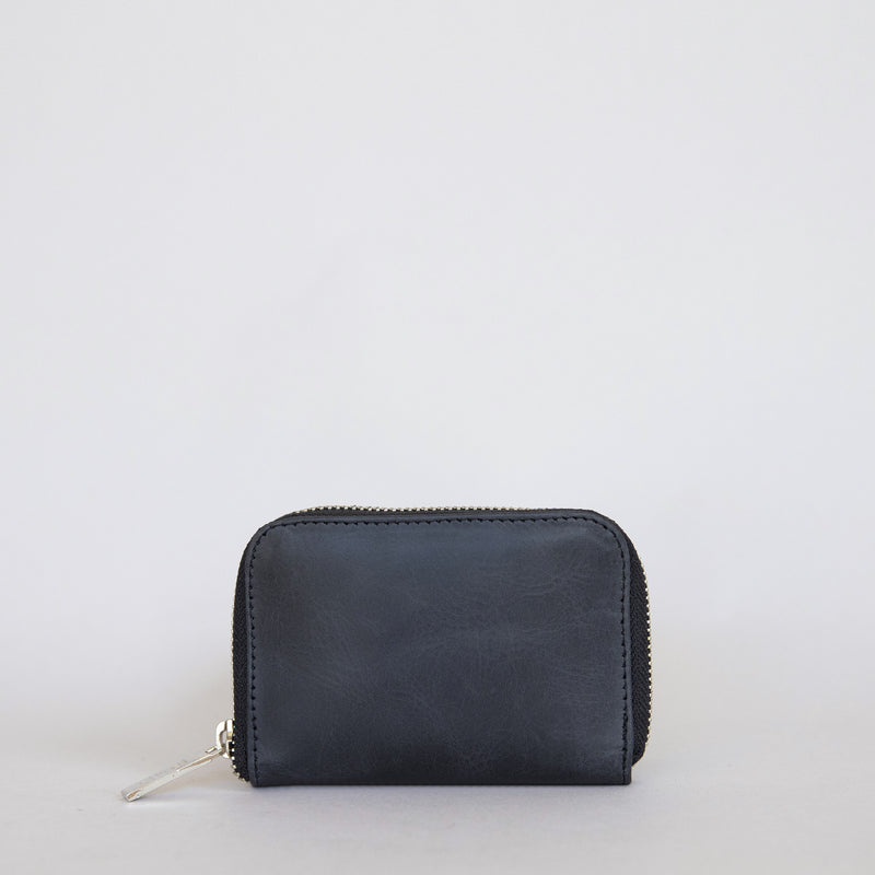 Mini Wallet in Charcoal Front