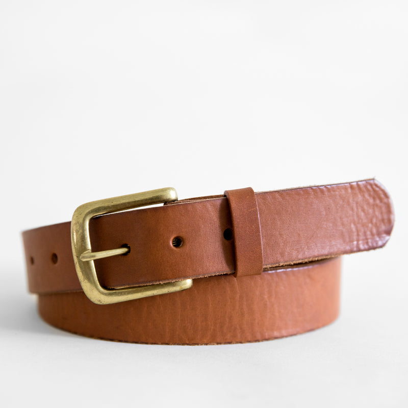 Tilo belt in Saddle from front
