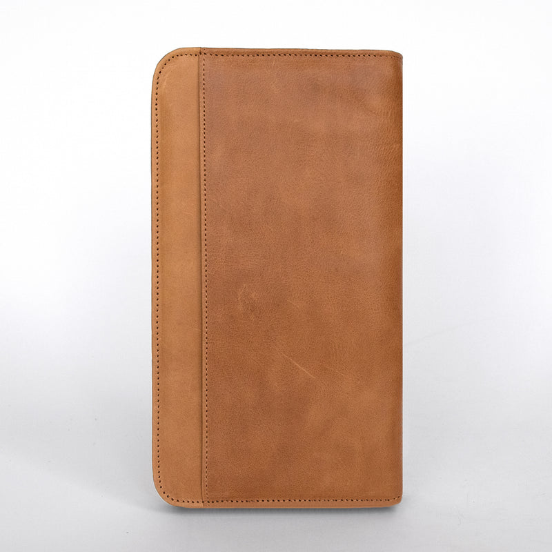 Travel Wallet in Aged Tan Back