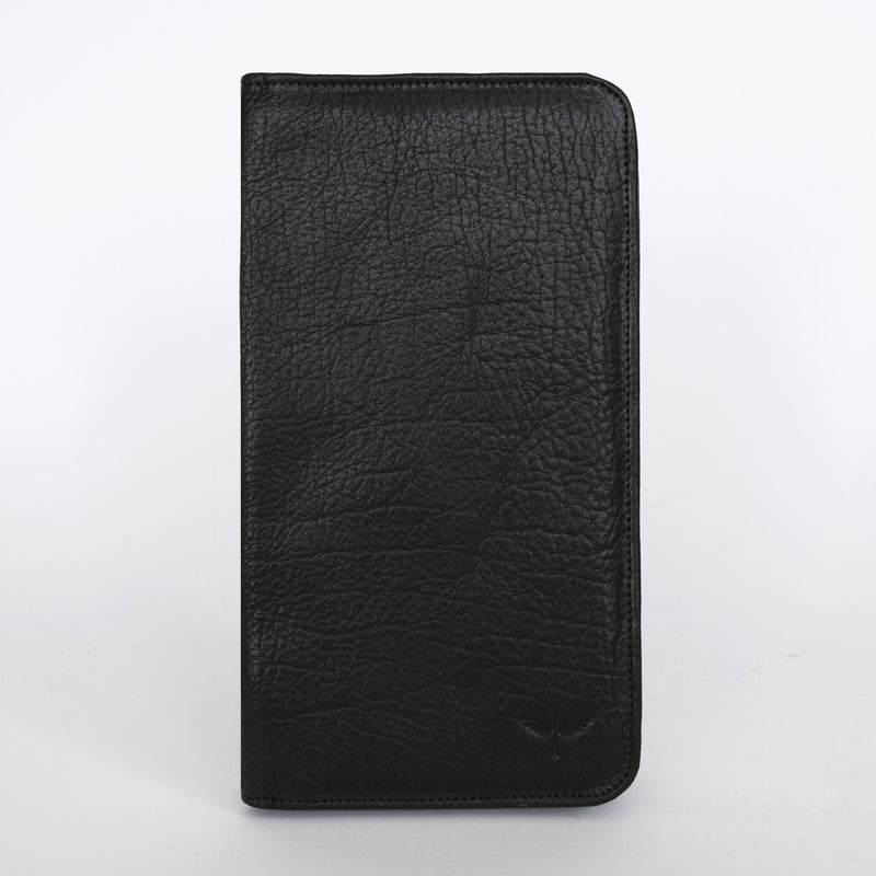 Travel Wallet in Black Front