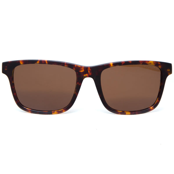Makani Sunglasses in Tortoiseshell  from front with brown lens