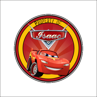 Print Personalized Lightning Mcqueen Sticker Labels ...