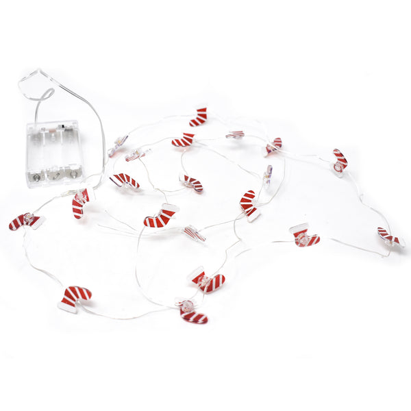 Mini Christmas Stocking Lights Garland, 1-Inch, 5-Feet