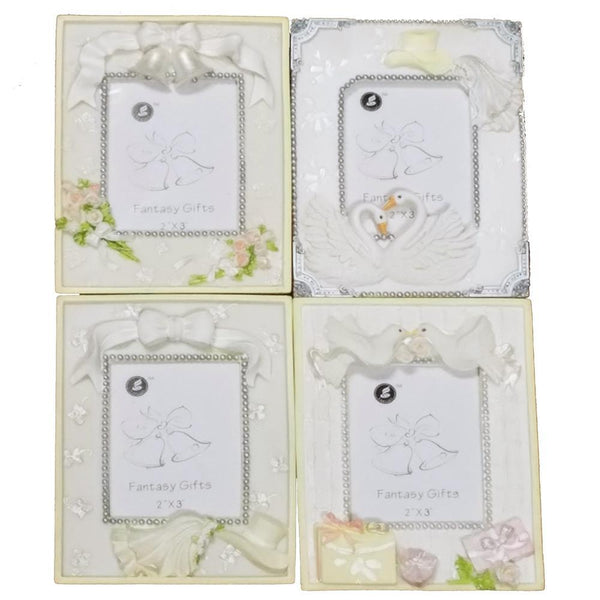 Wedding Bridal Shower Keepsake Frame, 4-3/4-Inch, 4-Piece