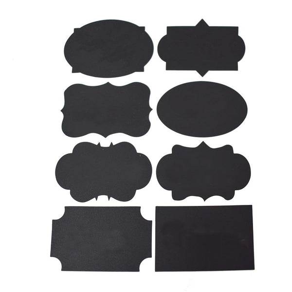 Reusable Adhesive Chalkboard Labels, 16-Piece
