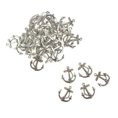 Metal Nautical Anchor Charms, Silver, 3/4-Inch, 36-Count