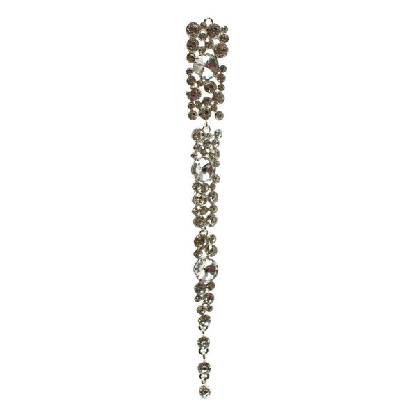 Hanging Icicle Gem Ornament, Silver, 6-1/2-Inch