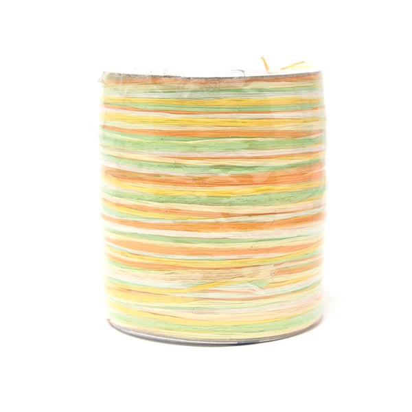 Premium Pastel Multicolored Raffia, Yellow, Made in Germany, 55-Yard