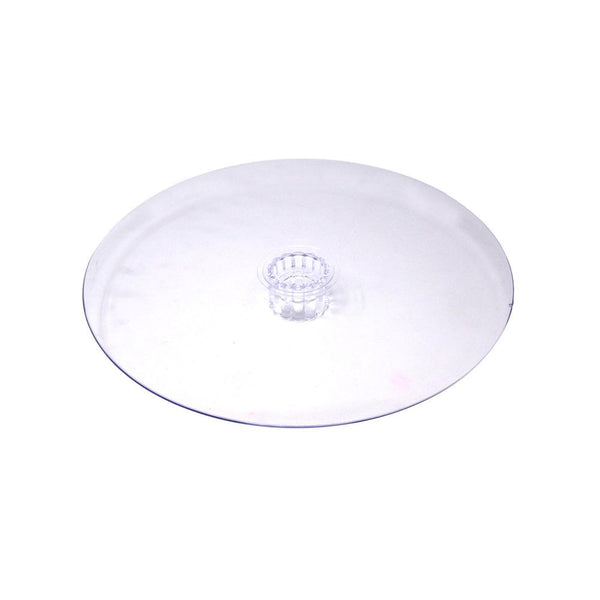Round Acrylic Plate Cake Stand, Clear, 10-Inch