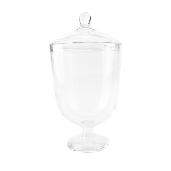 Clear Acrylic Tapered Apothecary Candy Jar, 11-3/4-Inch
