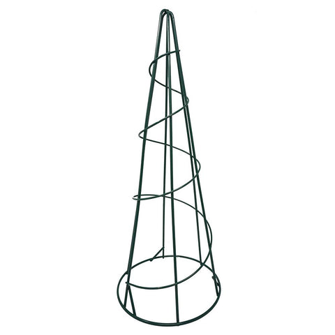 Floral Wire Cone Frame, Green, 15-1/8-Inch