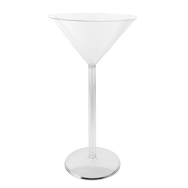 Plastic Large Martini Glass Disposable Cup, 18-Inch