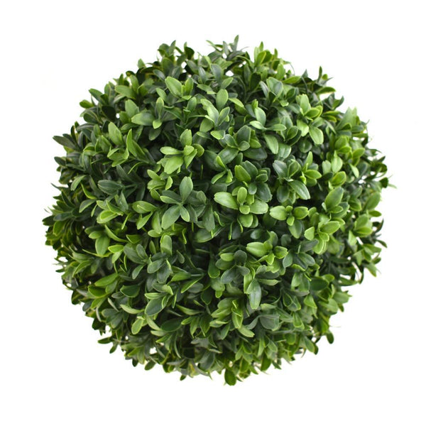 Synthetic Boxwood Plant Ball, Green, 10-Inch