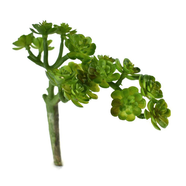 Artificial Bush Succulent Pick, Green, 6-Inch