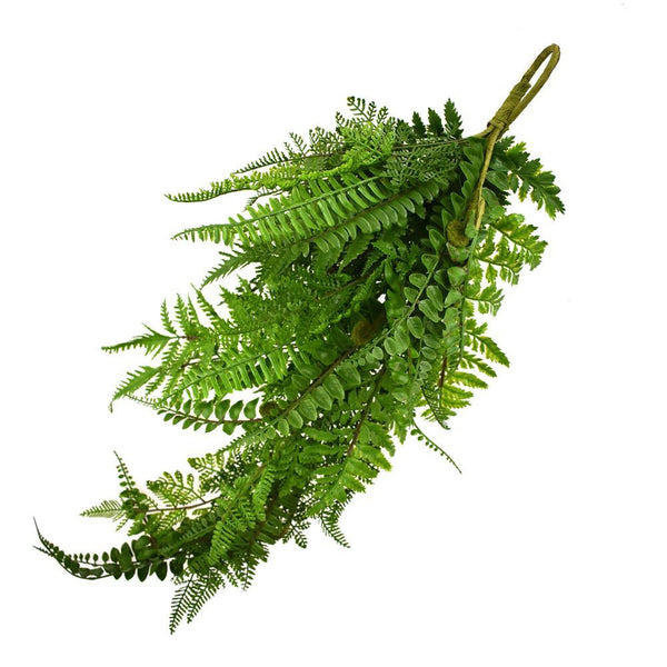 Artificial Fern Teardrop, Green, 29-Inch