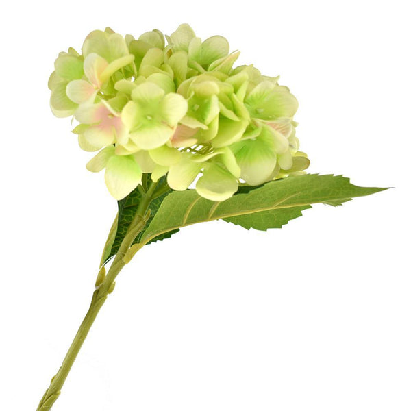 Deluxe Silk Hydrangea Stem, Apple Green, 18-Inch