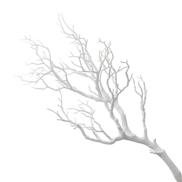 Large Plastic Artificial Coral Branch, White, 36-Inch