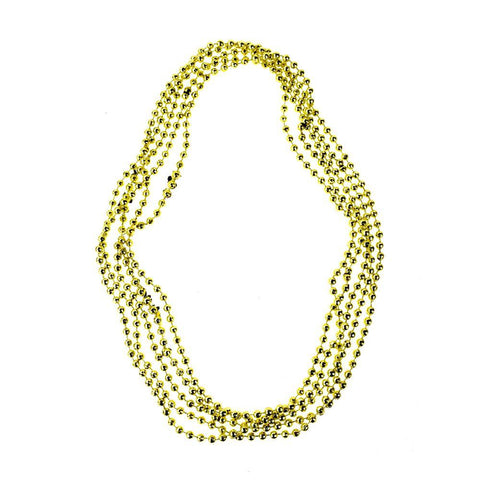 Plastic Bead Faceted Necklace, Gold, 15-1/2-Inch, 5-Count