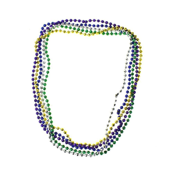Plastic Bead Faceted Necklace, Assorted Colors, 15-1/2-Inch, 5-Piece