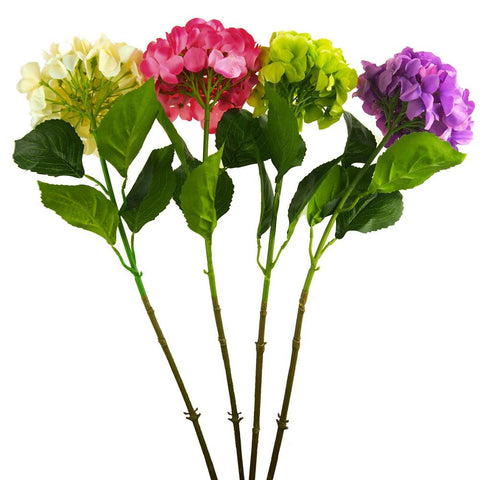 Artificial Silk Hydrangea Floral Stem, 34-Inch