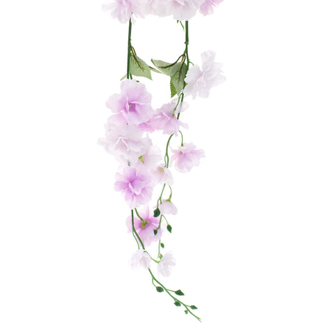 Artificial Wisteria Hanging Flowers Spray, Lavender, 45-Inch