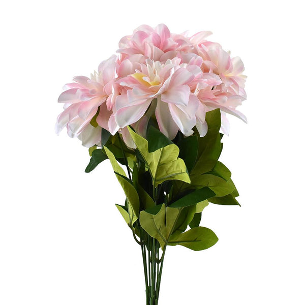 Artificial Dahlia Flowers Spray, 19-Inch
