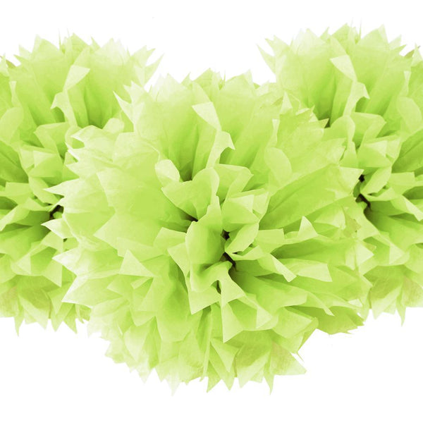 Starburst Tissue Paper Pom-Poms, Apple Green, 17-Inch, 3-Count