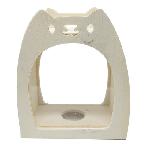DIY Wood Cat Coin Bank, Natural, 6-1/2-Inch
