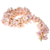 Floral Hanging Hydrangea Lei Garland, 60-Inch